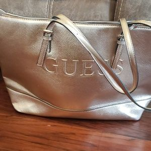 Rose Gold Guess Purse